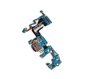Conector Carga S9 G960f Placa Flex Microfone