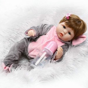 Bebê Reborn menina elefantinha, 42cm