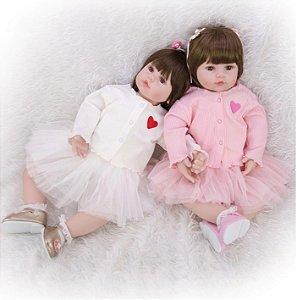 Bebê Reborn, princessa, 60cm Twin, corpo de algodão, 60cm