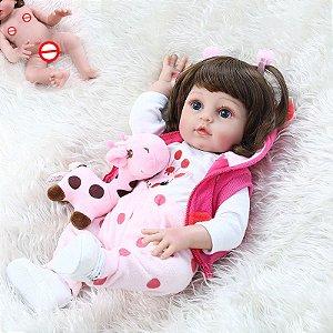[Pronta Entrega] Bebê reborn  girafa, 100% silicone  48cm