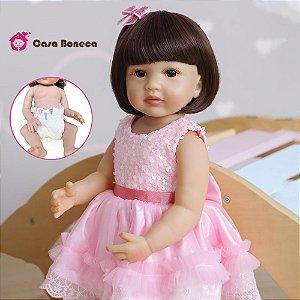 Bebê reborn 100% silicone menina  55cm