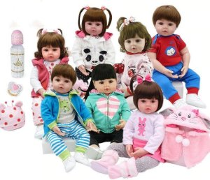 Bebê Reborn varios modelos 48cm corpo de algodão