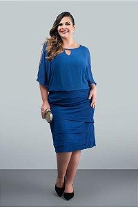 Vestido Curto Azul Royal (Venda Loja)