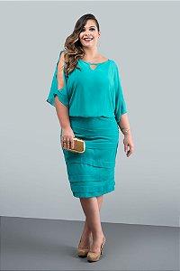 Vestido Curto Verde Safira (Venda Loja)