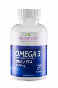 1 Frasco de Omega 3 120 capsulas 1000 mg Amazônia Show