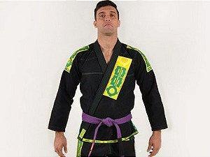 Kimono Jiu Jitsu Oss Masculino Preto/Verde Clássico
