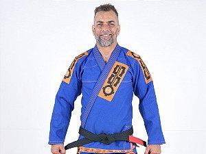 Kimono Jiu Jitsu Oss Masculino Competition Azul/Laranja