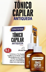Kit Tonico Capilar Antiqueda Concentrin 6 em 1. 60ml.
