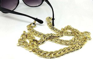Corrente Salva Óculos Elos Dourado