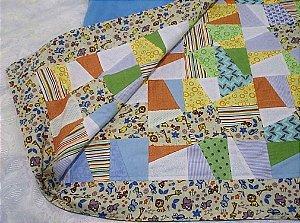 Manta de patchwork para bebê