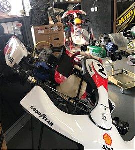 KartMini 2012 Modelo M2 com Motor 125cc - Araça e Kit de Refrigeração - Semi-Novo Top