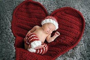 Coração em Croche para Newborn