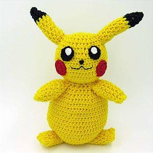 Pikachu em Amigurumi - Boneco Pokemon