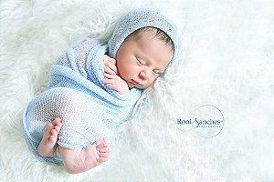Wrap para Newborn com elasticidade - Opções: Wrap / Tiara / Touca
