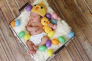 Touca Pintinho + Amigurumi (Newborn)