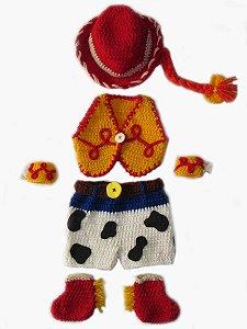 Newborn Jessie - Toy Stoty - em Crochê - kit completo