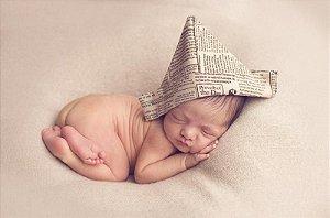 Touca estilo Chapeu de Jornal para Newborn Prop