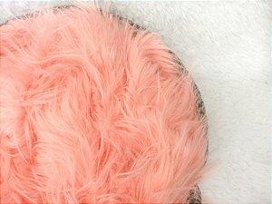 Manta para Newborn Pêlo Longo - Cor Coral