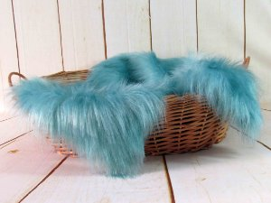 Manta para Newborn Pêlo Longo - Cor Azul Real