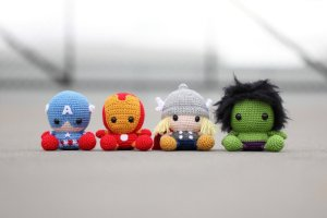 Amigurumi os Vingadores em Croche