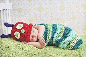 Newborn Lagartinha em Crochê