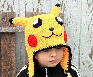 Touca Croche Pikachu - Pokemon - Adulto Ou Bebe