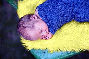Manta para Newborn Pêlo Longo - Cor Amarelo