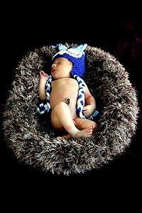 Ninho de Crochê para Newborn