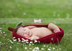 Casulo Maça De Croche para Newborn
