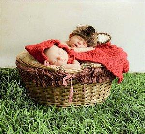 Conjunto Newborn Chapeuzinho Vermelho Em Crochê - Modelo 1