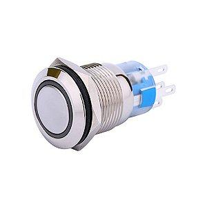 Interruptor 3A Redondo Pulsante Com Luz Azul 220v