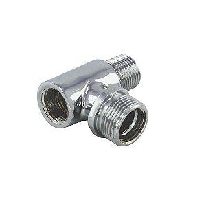 Niple Adaptador para torneira 1/2 x 1/2 x 3/4 Latina Libell Colormaq