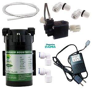 Kit Pressurizador 75 GPD Para Bebedouro e Osmose Reversa  GAMA 1