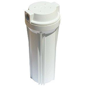 "Carcaça Para Filtro 10"" Hydronix tampa plana"