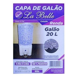 Capa Para Galão De Água 20l Renda 90x40cm La Belle