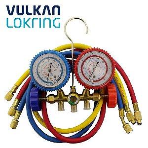 Conjunto Analisador Manifold para  R22 R407C R410A Vulkan
