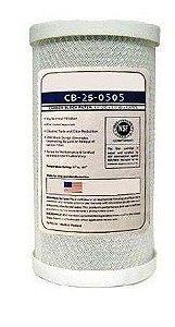 Filtro Refil Cartucho Carvão Ativado Liquatec/hidronix - 5 Micra - 5 Pol