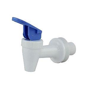 Torneira Branca Alavanca Azul para Bebedouros e Purificadores de Água IBBL