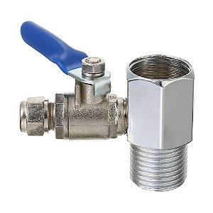 Kit Niple Adaptador Metal Purificador Água Rosca 1/2 Saída 1/4