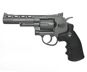 "Revolver de Pressão Rossi 38 Full Metal M701 - CO2 6 Tiros 4"" Oxidado - 4,5mm - Wingun"