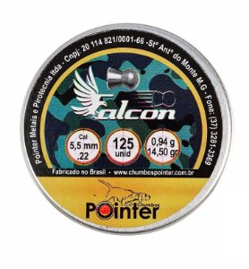 Chumbinho Pointer Falcon 5.5mm - 125un
