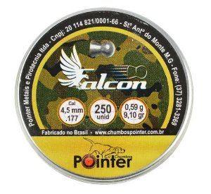 Chumbinho Pointer Falcon 4.5mm - 250un