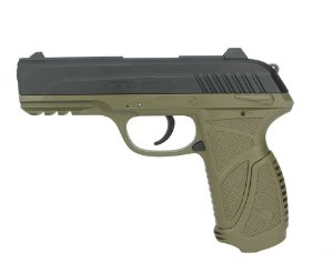 Pistola de Pressão a Gás GAMO GBB CO2 PT-85 Blowback Slide Metal Olive - Cal. 4.5mm