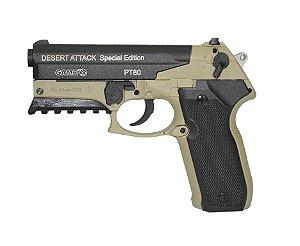 Pistola de Pressão GAMO PT-80 Desert Attack SE C/ Maleta Rígida - Cal. 4.5mm