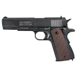 Pistola de Pressão CO2 P1911 Blowback Full Metal Cal. 4.5MM - SWISS ARMS