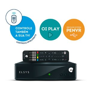 RECEPTOR DIGITAL OI TV HD COM CONTROLE INTELIGENTE ETRS44