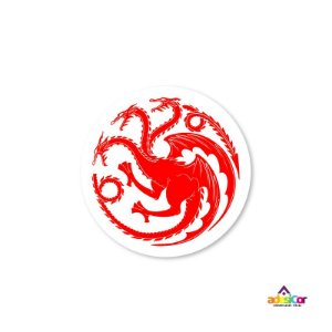Adesivo Vinil Game Of Thrones - Casa Targaryen - 9x9cm