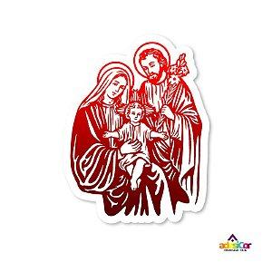 Adesivo Vinil Sagrada Família - 11,5x9cm