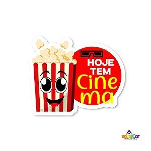 Adesivo Vinil Hoje tem Cinema - 11x9cm