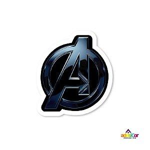 Adesivo Vinil Logo Avengers - 10x9cm